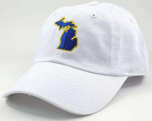 Hats/Visors - Michigan Ann Arbor Gameday Hat In White By State Traditions