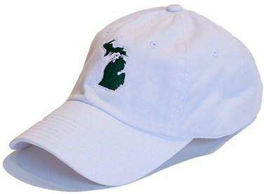 Hats/Visors - Michigan East Lansing Gameday Hat In White By State Traditions