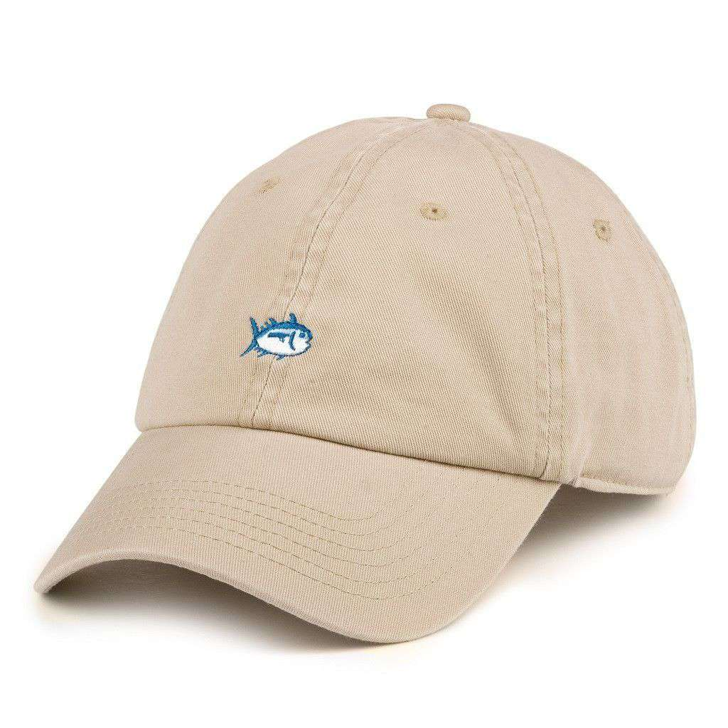 Hats/Visors - Mini Skipjack Hat In Khaki By Southern Tide