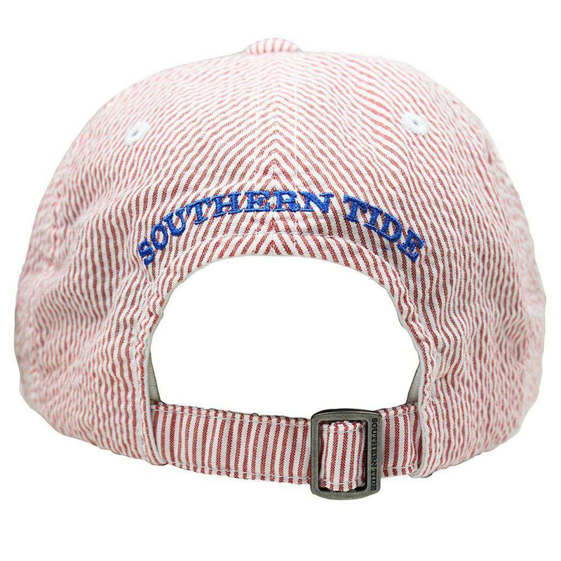 Mini Skipjack Hat in Red Seersucker by Southern Tide