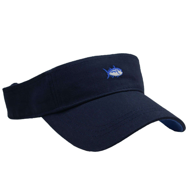 Hats/Visors - Mini Skipjack Visor In Navy By Southern Tide