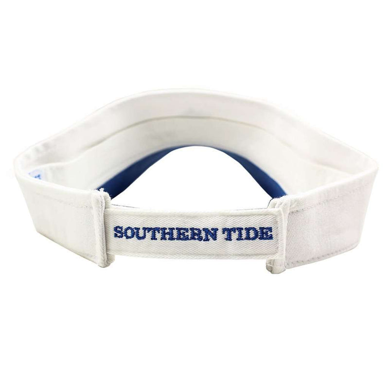 Mini Skipjack Visor in White by Southern Tide