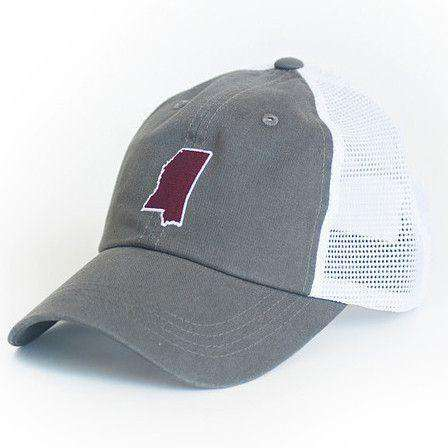 71abe845a7c Mississippi Starkville Gameday Trucker Hat in Grey by State Traditions