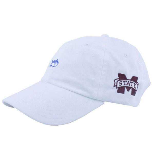 Hats/Visors - Mississippi State Collegiate Skipjack Hat In White By Southern Tide