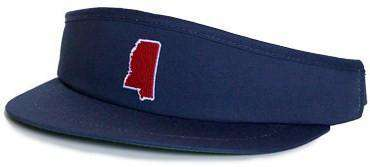 Hats/Visors - MS Oxford Gameday Golf Visor In Navy By State Traditions
