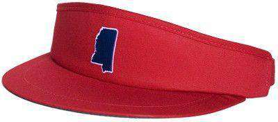 Hats/Visors - MS Oxford Gameday Golf Visor In Red By State Traditions
