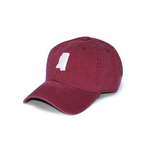 Hats/Visors - MS Starkville Gameday Hat In Maroon By State Traditions