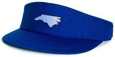 Hats/Visors - NC Durham Gameday Golf Visor In Blue By State Traditions