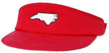 Hats/Visors - NC Raleigh Gameday Golf Visor In Red By State Traditions