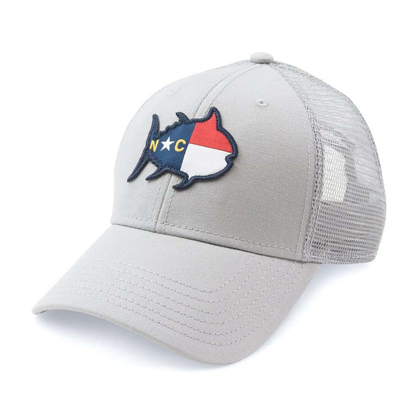 Hats/Visors - North Carolina Skipjack State Trucker Hat In Grey By Southern Tide
