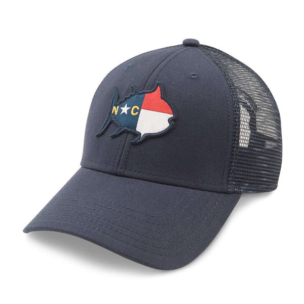 Hats/Visors - North Carolina Skipjack State Trucker Hat In Navy By Southern Tide