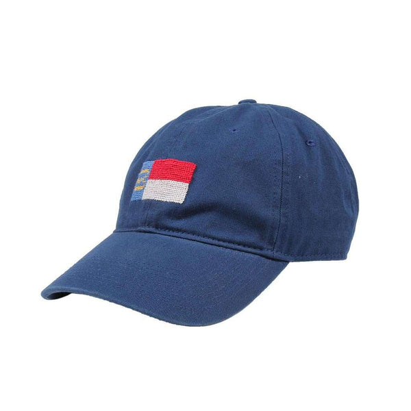 North Carolina State Flag Needlepoint Hat in Navy by Smathers & Branson