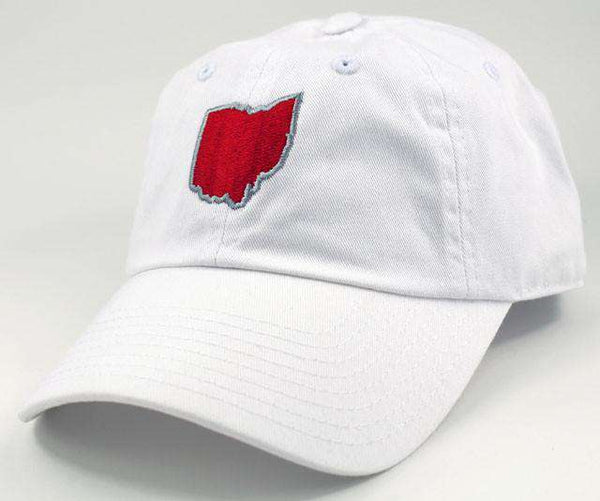 Hats/Visors - Ohio Columbus Gameday Hat In White By State Traditions