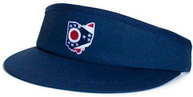 Hats/Visors - Ohio Traditional Golf Visor In Navy By State Traditions