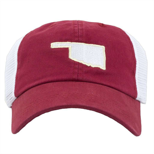 Oklahoma Norman Gameday Trucker Hat in Crimson by State Traditions