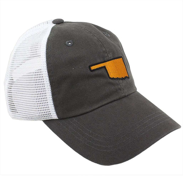 Hats/Visors - Oklahoma Stillwater Gameday Trucker Hat In Grey By State Traditions