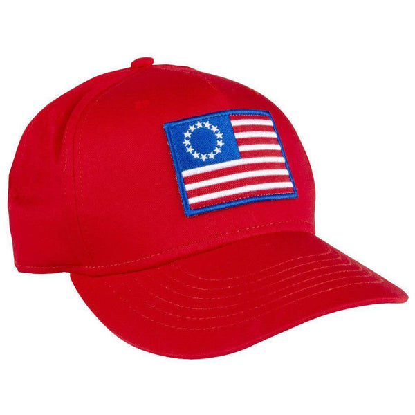 Hats/Visors - Old Glory All Twill Hat In Red By Rowdy Gentleman - FINAL SALE