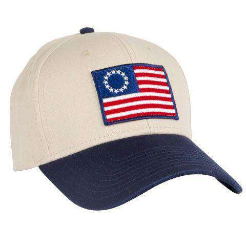 Old Glory All Twill Snapback Hat in Khaki by Rowdy Gentleman