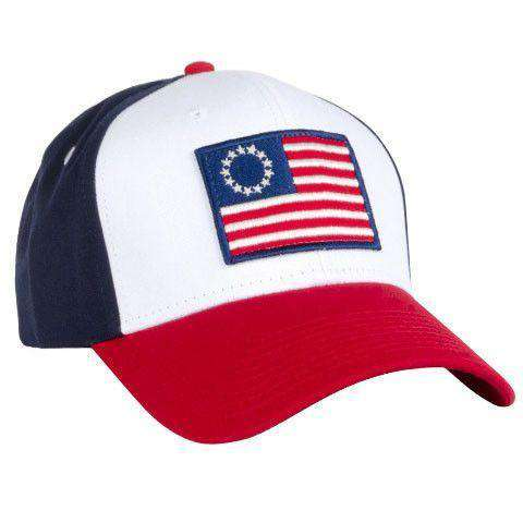 Old Glory All Twill Snapback Hat in Navy by Rowdy Gentleman