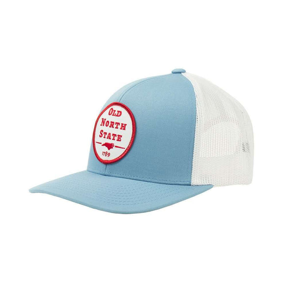 Old North State Mesh Back Hat in Columbia Blue by Classic Carolinas