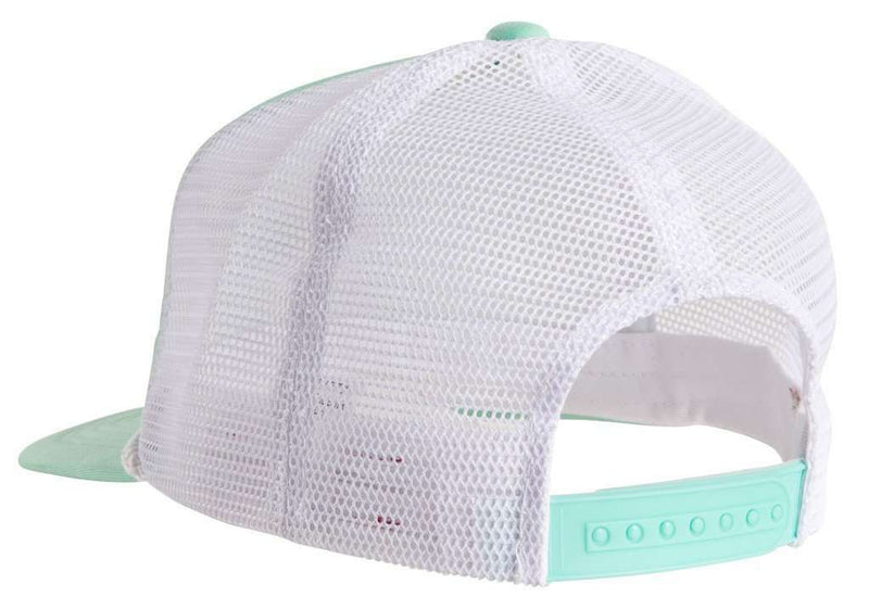 Hats/Visors - Old Pro Trucker Hat In Seafoam Green And White By Southern Proper