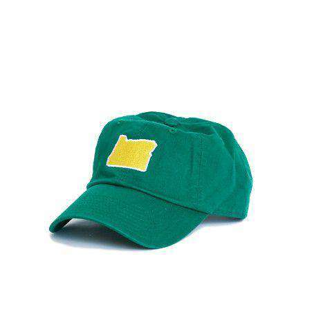 Hats/Visors - OR Eugene Gameday Hat In Green By State Traditions
