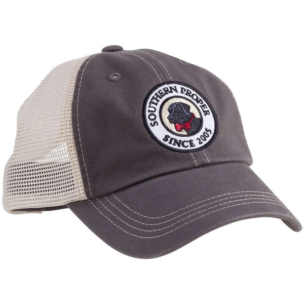 Hats/Visors - Original Logo Patch Trucker Hat In Graphite By Southern Proper