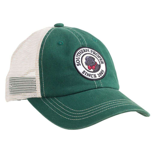 Hats/Visors - Original Logo Patch Trucker Hat In Green By Southern Proper