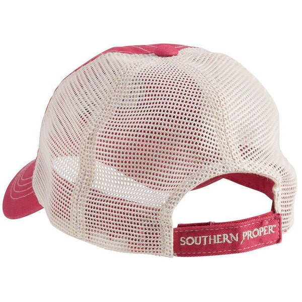 Hats/Visors - Original Logo Patch Trucker Hat In Red By Southern Proper