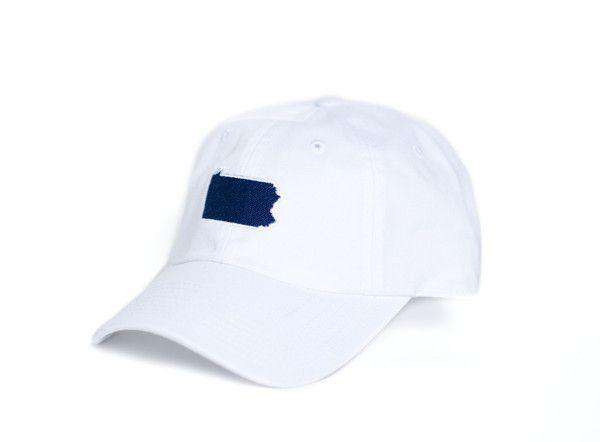 Hats/Visors - PA Happy Valley Gameday Hat In White By State Traditions