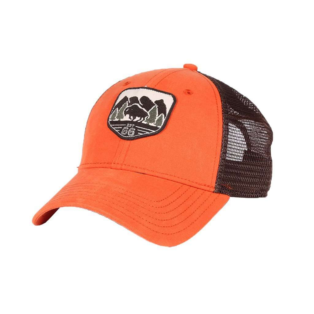 The North Face Patches Trucker Hat in Tibetan Orange – Country Club Prep b43954beca7