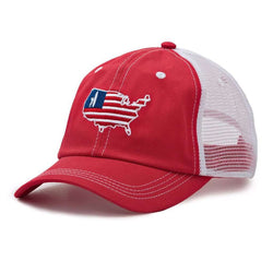 Hats/Visors - Patriot Hat In Racing Red By Johnnie-O