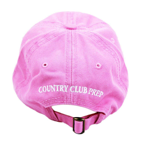 Hats/Visors - Patriotic Longshanks Hat In Pink Twill By Country Club Prep