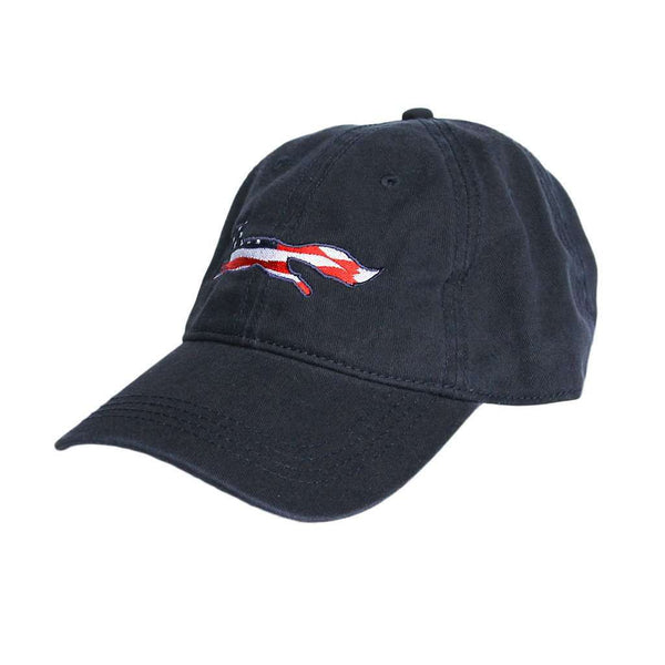 Hats/Visors - Patriotic Longshanks Logo Hat In Navy Twill By Country Club Prep