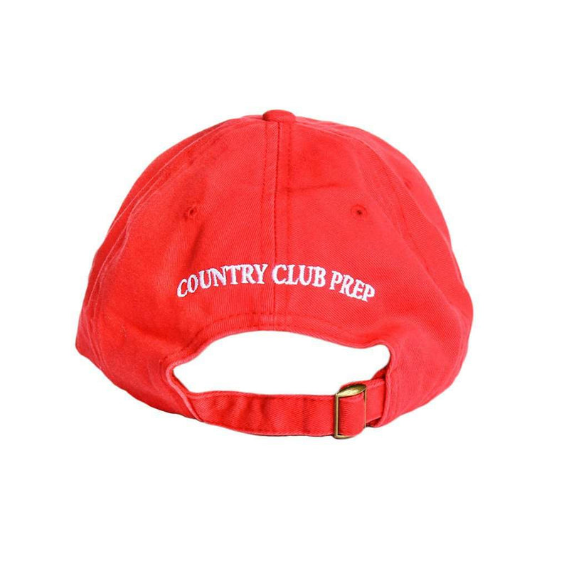 Hats/Visors - Patriotic Longshanks Logo Hat In Red Twill By Country Club Prep