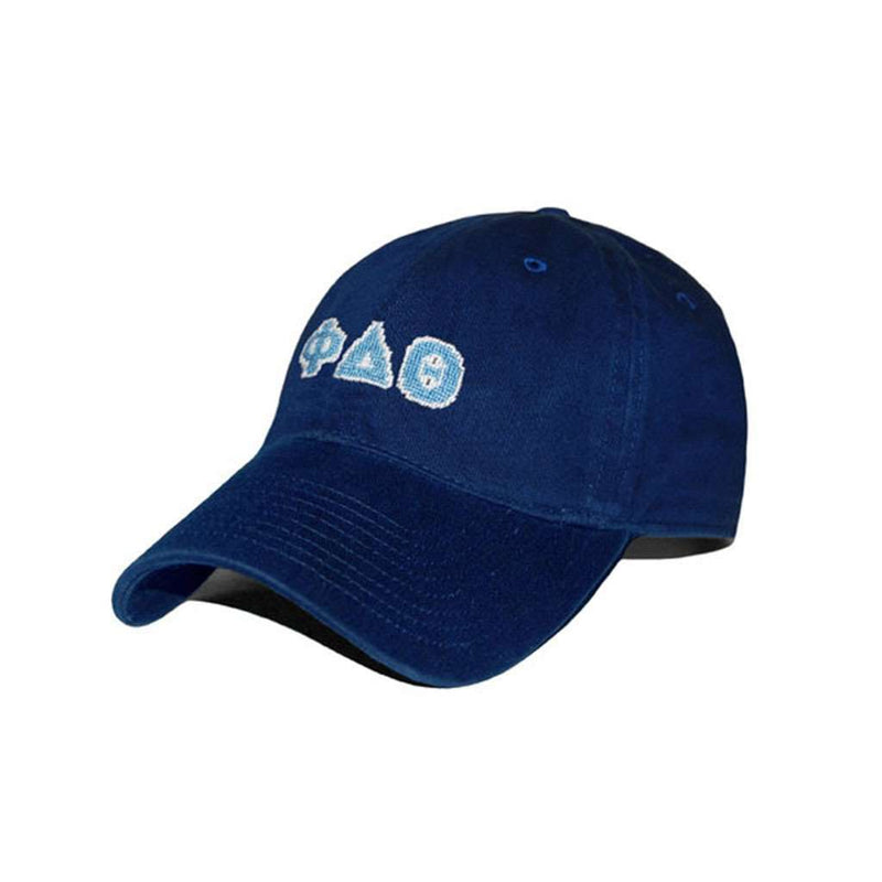 Hats/Visors - Phi Delta Theta Needlepoint Hat In Navy By Smathers & Branson