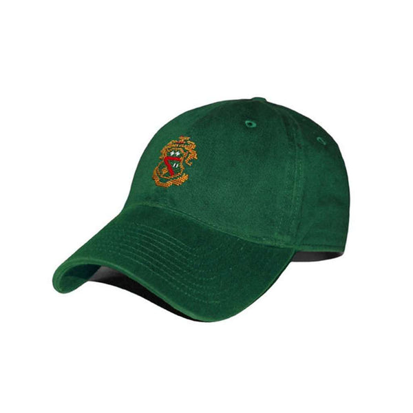 Hats/Visors - Phi Kappa Psi Needlepoint Hat In Hunter Green By Smathers & Branson