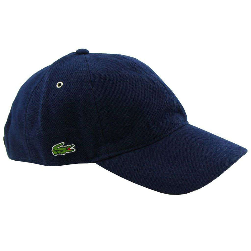 Hats/Visors - Pique Cap In Navy By Lacoste - FINAL SALE