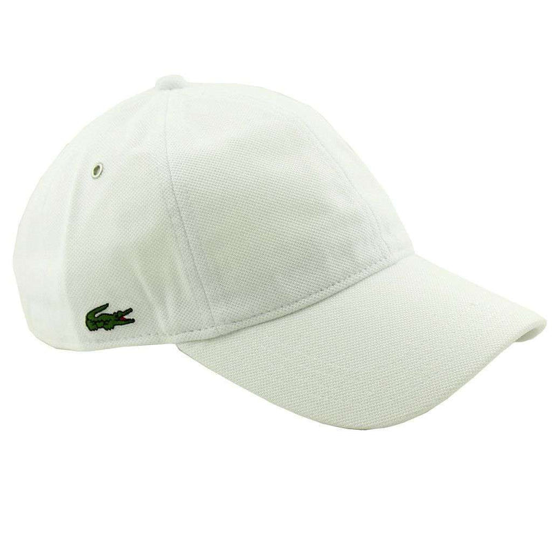 Hats/Visors - Pique Cap In White By Lacoste