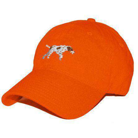 Hats/Visors - Pointer Needlepoint Hat In Orange By Smathers & Branson