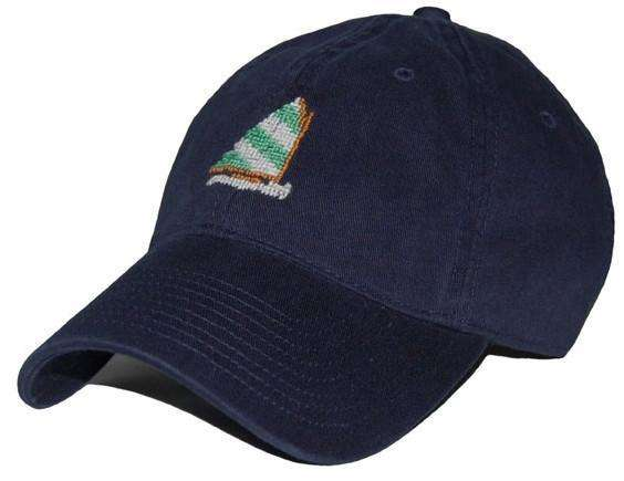 Hats/Visors - Rainbow Fleet Needlepoint Hat In Navy By Smathers & Branson