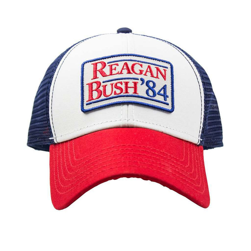 Rowdy Gentleman Reagan Bush 84 Meshback Hat In Red White