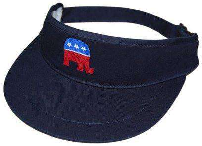 853608a15ce Hats Visors - Republican Needlepoint Golf Visor In Navy By Smathers    Branson