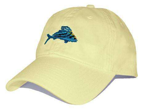Hats/Visors - Roosterfish Needlepoint Hat In Butter By Smathers & Branson