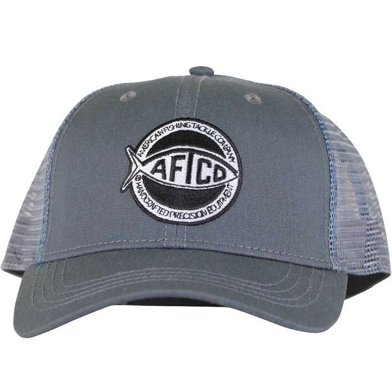 Rounder Trucker Hat in Charcoal by AFTCO