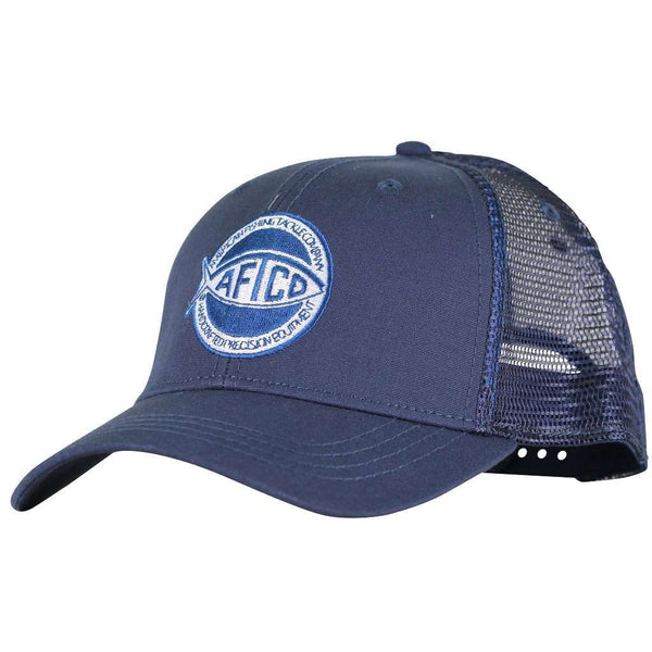 Rounder Trucker Hat in Navy by AFTCO - FINAL SALE