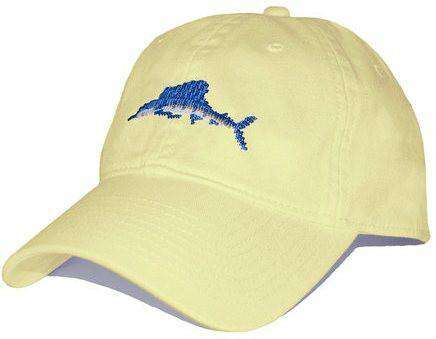 Hats/Visors - Sailfish Needlepoint Hat In Butter By Smathers & Branson
