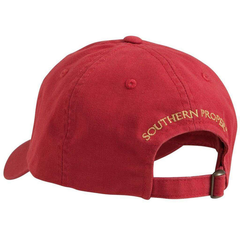 Savannah Bourbon Recipe Hat in Red by Southern Proper