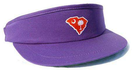 Hats/Visors - SC Clemson Gameday Golf Visor In Purple By State Traditions