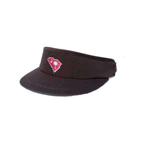 Hats/Visors - SC Columbia Gameday Golf Visor In Black By State Traditions